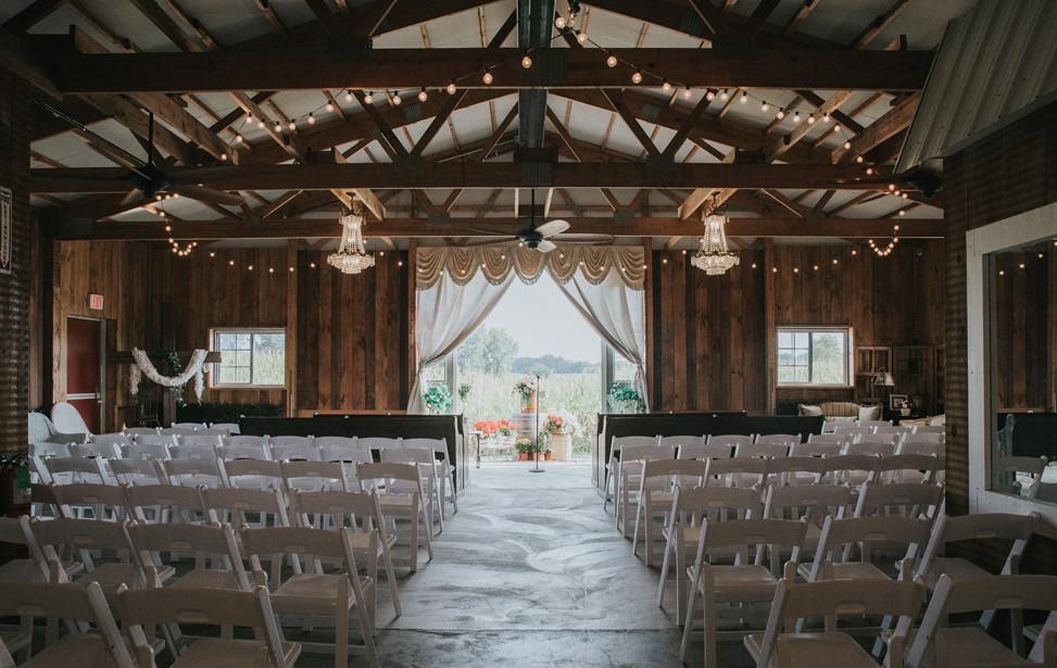 Unique chandeliers throughout venue