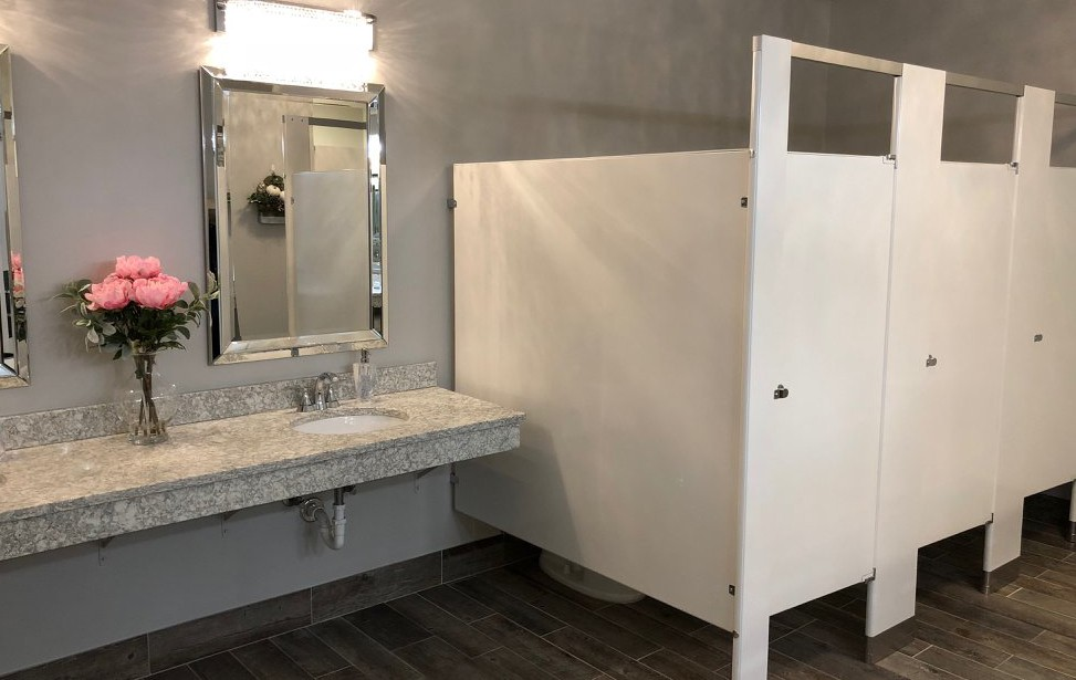 Elegant Climate Controlled Washrooms (handicapped accessible)